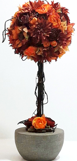 geulaflowers.com composition florale arbre orange